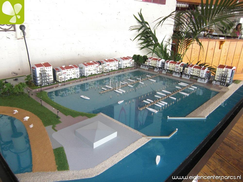 Maquette marina de eemhof u eigen center parcs