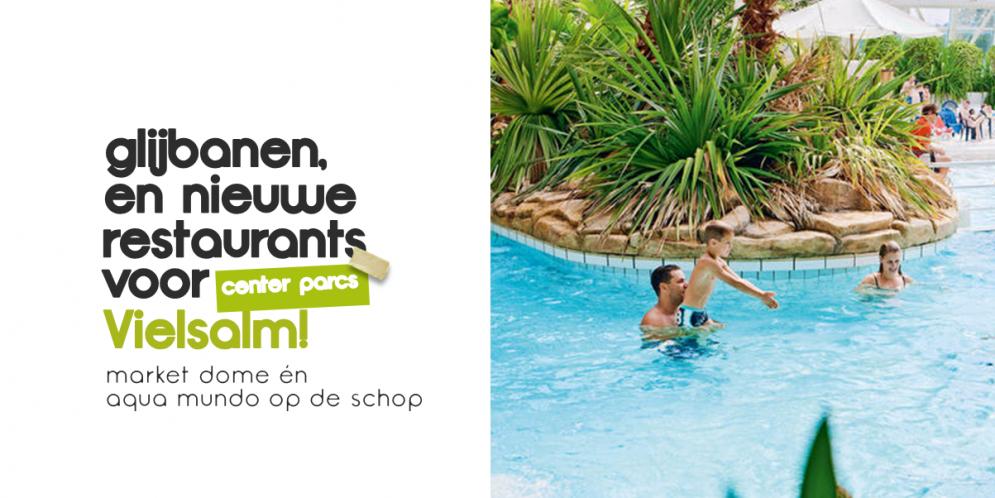 Nieuwe restaurants, WaterPlayhouse, nieuwe kinderbaden én klimmuren voor Center Parcs Ardennen! Cool.